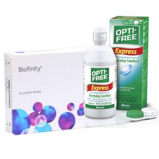 Biofinity (2 lenses) + Optifree Express 355ml